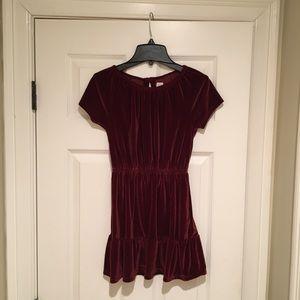 Gap kids velvety red (maroon) dress, size m(8)